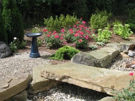 DC Design LLC, landscape architect design: adding interest and ... on dry stream landscape, wooden deck garden, gully garden,